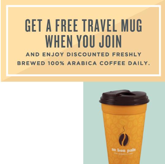free au bon pain coffee cup